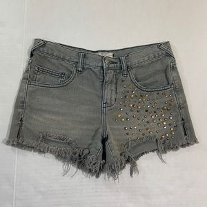Free People Studded Distressed BOHO Shorts 25